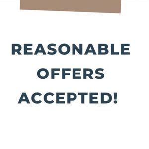 Reasonable offers will be accepted!!!